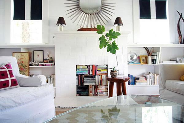 10 decoraciones para chimeneas sin uso for Decoracion de chimeneas