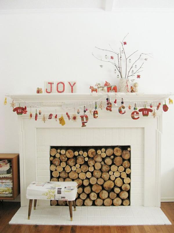 Ideas para decorar chimeneas que no se usan 5