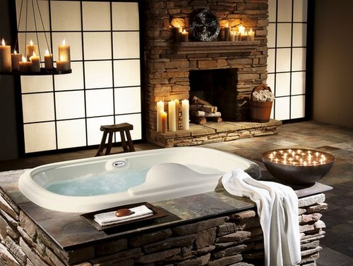 Bloque Baño Adaptado:Rustic Interior Decorating Ideas
