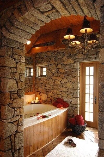 Baños con piedra natural 2