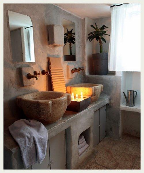 Baños con piedra natural 4