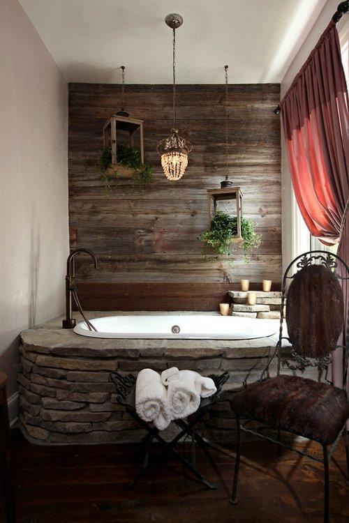 Baños con piedra natural 5