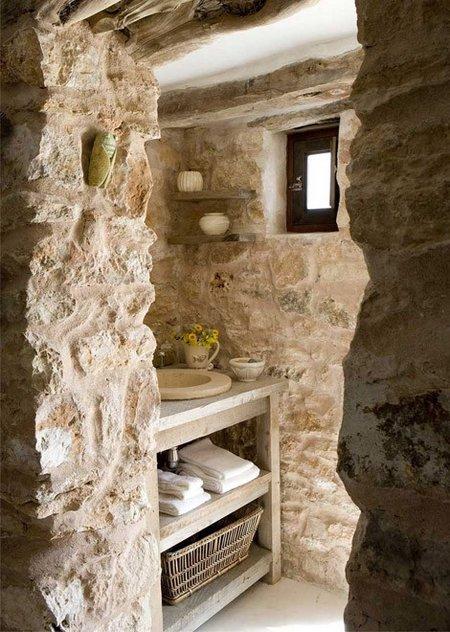 Baños con piedra natural 6