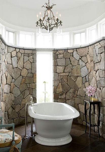 Cuartos de ba o sobre piedra natural - Decorative stone for bathrooms seven design inspiring ideas ...