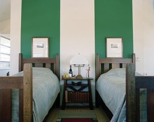 Dormitorios con decoraci n a rayas - Habitaciones pintadas con rayas ...