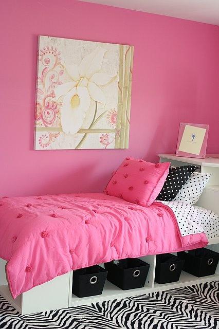 Habitaciones en rosa y negro Habitaciones juveniles rosa