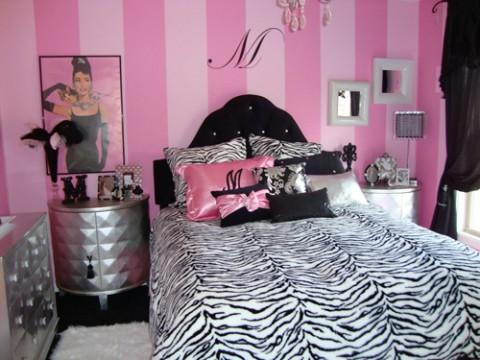 Habitaciones en rosa y negro2