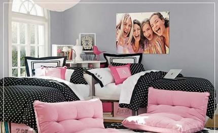Habitaciones en rosa y negro4