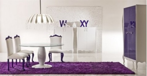 Decoración con color violeta 6