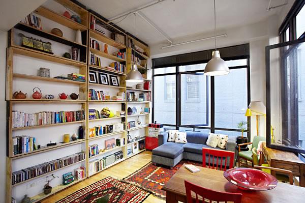 Una librer a giratoria - Libreria de madera ...