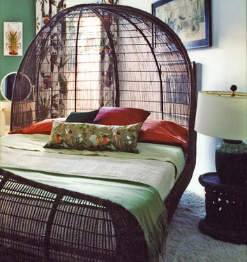 Muebles de mimbre para tu hogar - Puff de mimbre ...