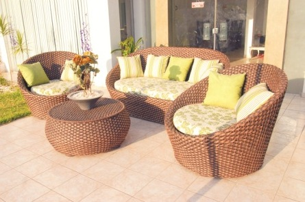 Muebles de mimbre para tu hogar for Sofa mimbre terraza