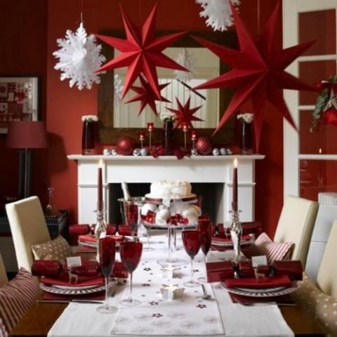 decoración navideña en rojo 2