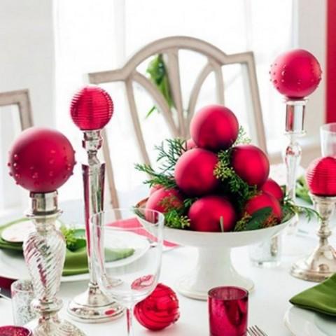 decoración navideña en rojo 3