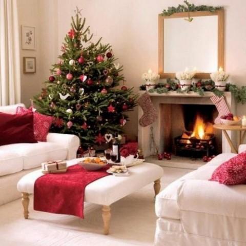 decoración navideña en rojo 6