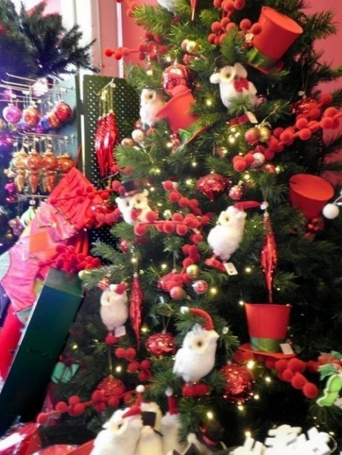 decoración navideña en rojo 8