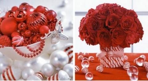 decoración navideña en rojo 7