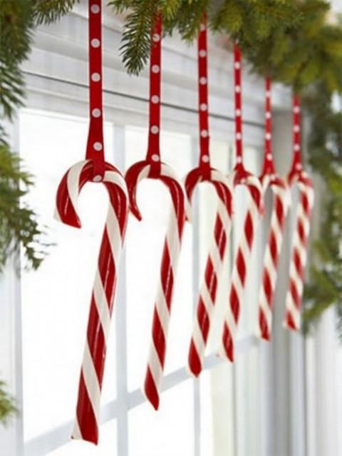 decoración navideña en rojo 4