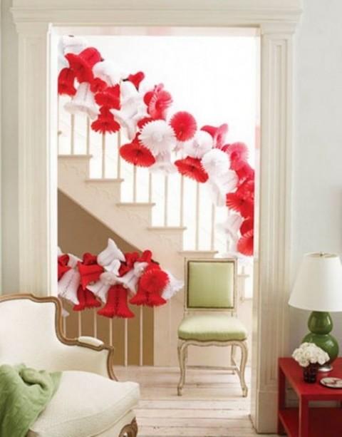 decoración navideña en rojo 5