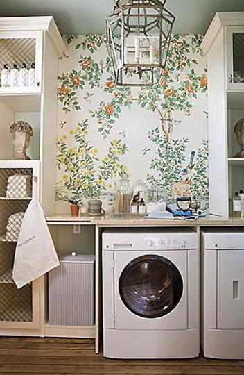 laundry room retro wallpaper - photo #18