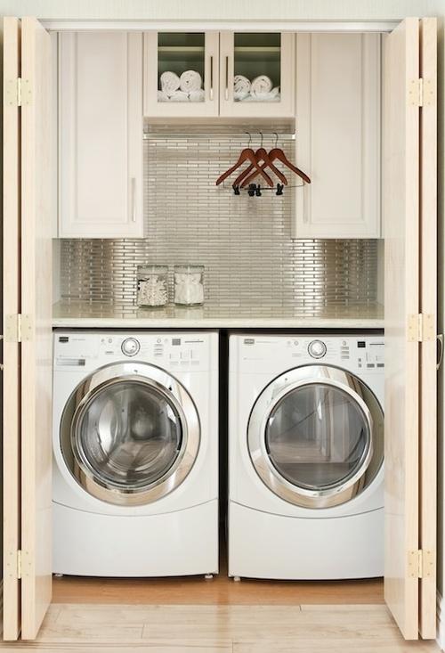 Nueve propuestas para decorar el lavadero for Lavadero empotrado
