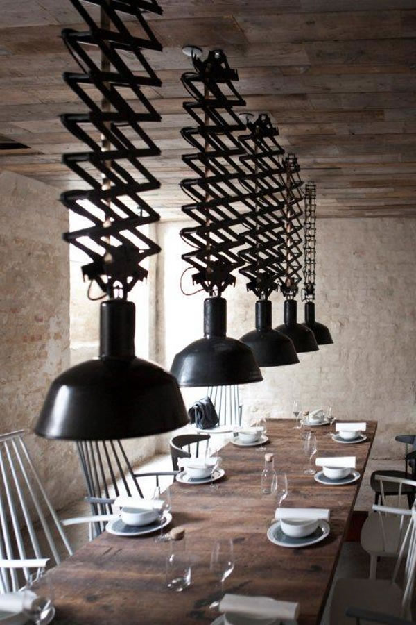 Un restaurante en estilo industrial for Diseno estilo industrial