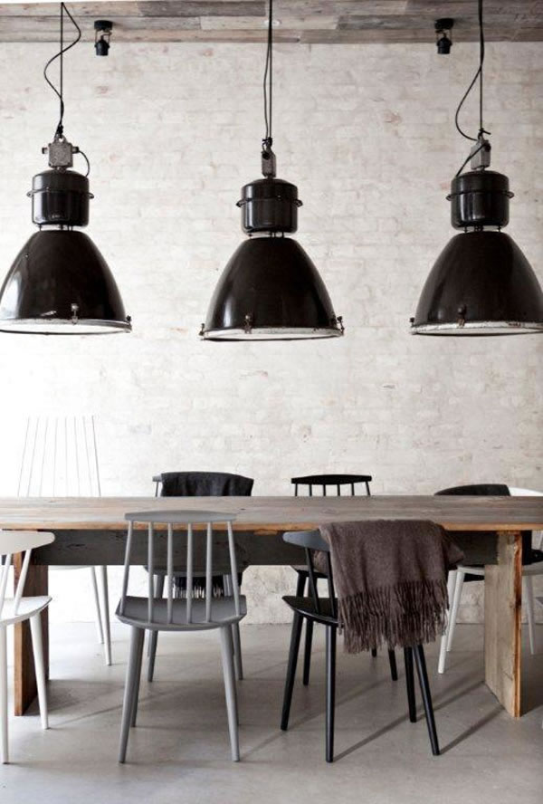un restaurante en estilo industrial. Black Bedroom Furniture Sets. Home Design Ideas