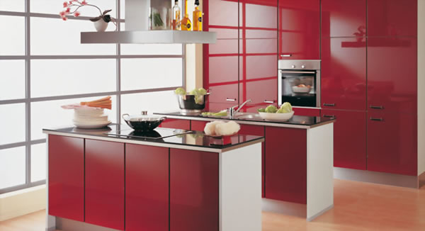 Decorar con rojo burdeos 2
