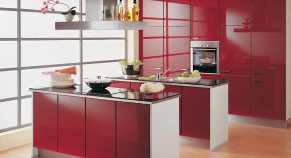 Rojo burdeos un aliado para la elegancia for Cocina moderna de color