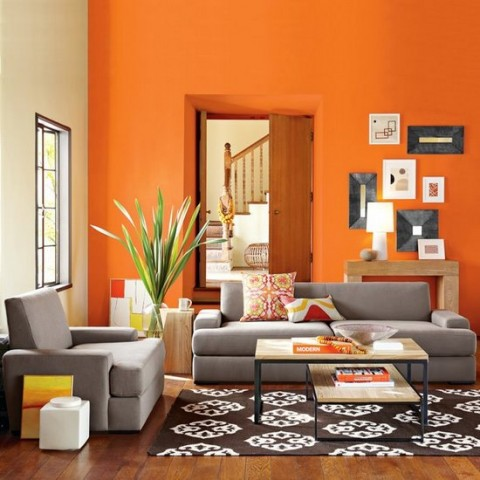 Decorar con el color naranja 1