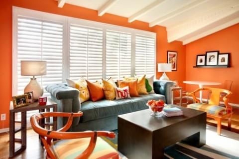 Decorar con el color naranja 2