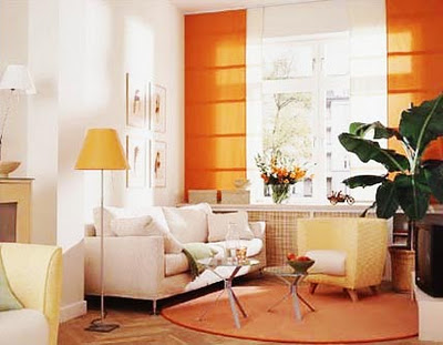 Decorar con el color naranja 4