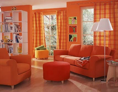 Decorar con el color naranja 5