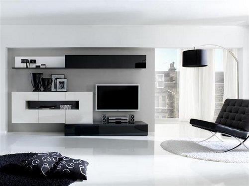 Salones minimalistas en blanco y negro 01 gu a para decorar - Salones en blanco y negro ...