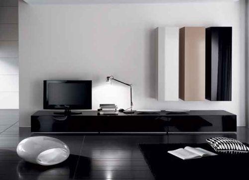 Salones minimalistas en blanco y negro 02 gu a para decorar - Salones en blanco y negro ...