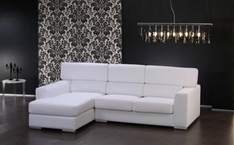 Salones minimalistas en blanco y negro - Salones con sofa negro ...