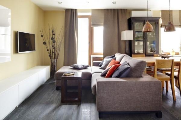 Un acogedor apartamento en mosc for Decoracion de interiores living pequeno
