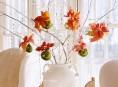imagen Arreglos navideños con flor de pascua