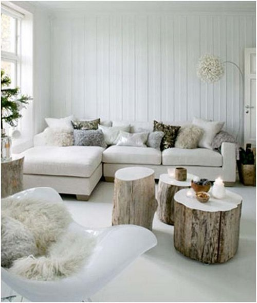 Decorar con troncos de madera natural - Tronco de arbol para decoracion ...