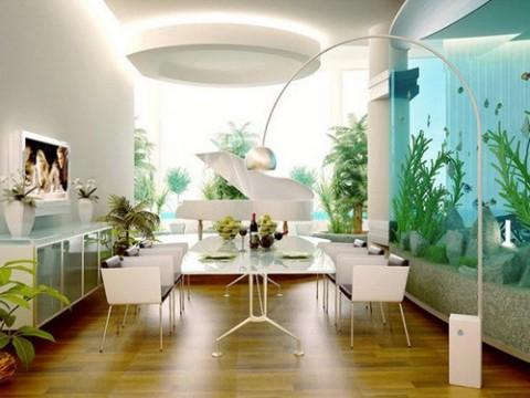 decorar con acuarios 1 - Decoracion Interiores