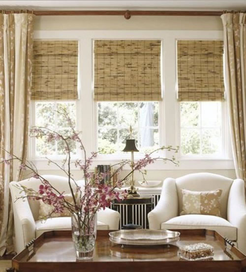 living room picture window treatments decorar con ca 241 as de bamb 250 20496