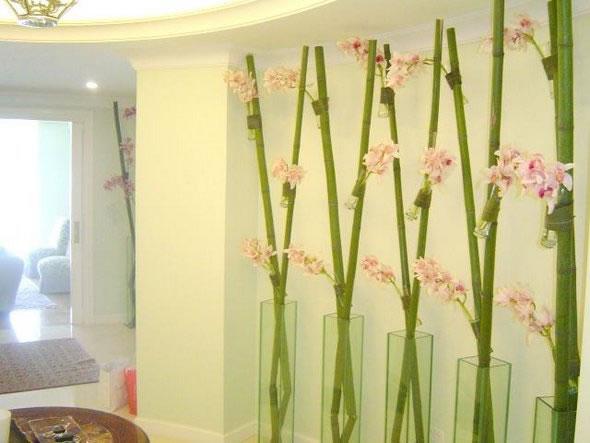 Decoración con cañas de bambú 4