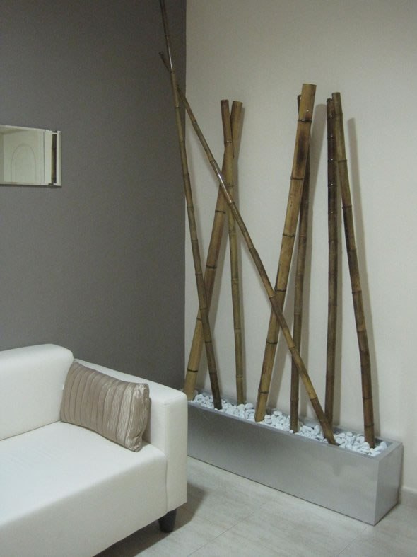 Decorar con ca as de bamb - Jardineras con bambu ...