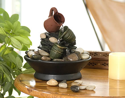 decorar con fuentes de agua 6 - Fuentes De Agua Decorativas