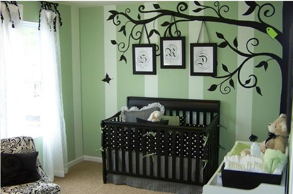 Habitaciones de beb unisex for Habitaciones para ninas pintadas