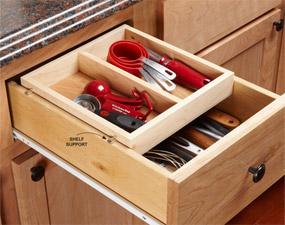 Ideas para organizar la cocina for Organizar cajones cocina