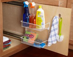 Ideas para organizar la cocina - Armarios para guardar productos de limpieza ...