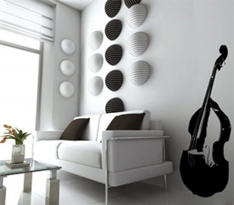 Decorar con instrumentos musicales for Objetos de decoracion modernos