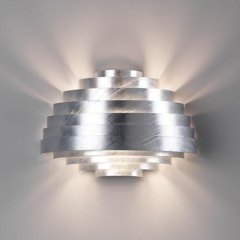 Diseños geométricos para lámparas de pared