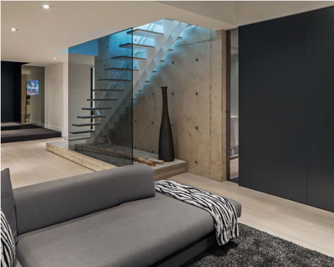 Lujoso minimalismo natural for Escaleras minimalistas interiores